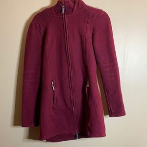Bench Long Red Sweater Jacket Small